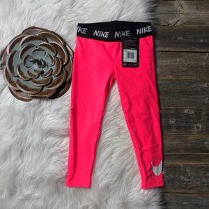 New Nike Leggings Girls Size 4 Hot Pink MSRP $30